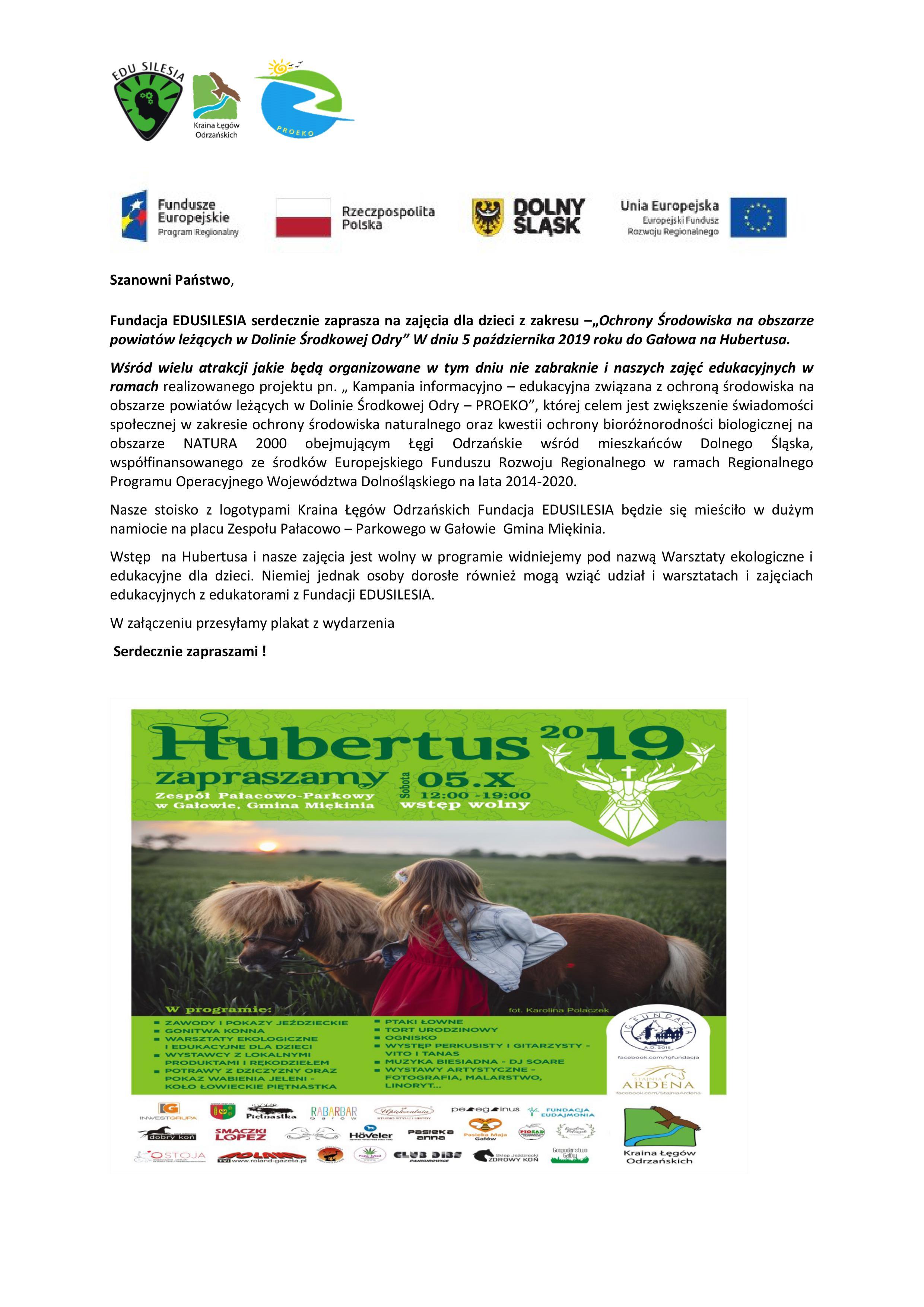 Hubertus – warsztaty i zajęcia ekologiczne